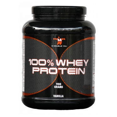 M Double You 100% Whey Protein 900 gram banaan