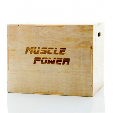 Muscle Power Kleine Houten Plyo Box