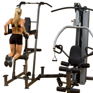 Body-Solid Fusion 600 krachtstation met Weight assisted dip and pull up station