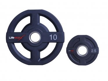 Lifemaxx PU olympische halter schijf 15kg 50mm LMX73