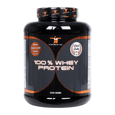 M Double You 100% whey protein 2250 gram banaan