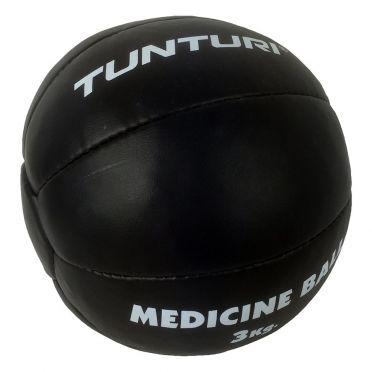 Tunturi Medicine ball Kunstleer 3 kg zwart