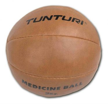 Tunturi Medicine ball Kunstleer 2 kg bruin