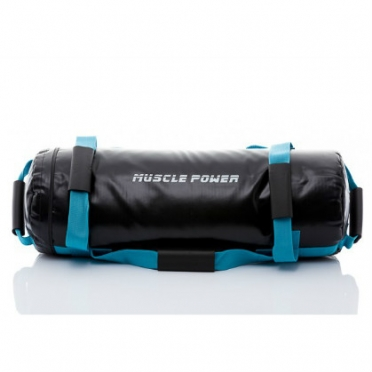 Muscle Power Power Bag 25 kilogram blauw MP1030