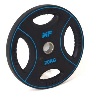 Muscle Power 50mm PU halterschijf 4 grip 20 kg
