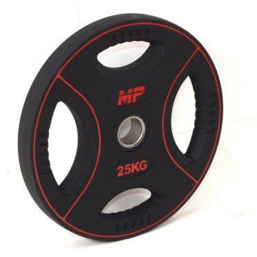 Muscle Power 50mm PU halterschijf 4 grip 25 kg