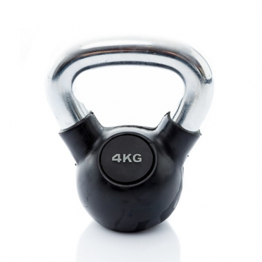 Muscle Power Kettlebell Rubber - Chrome 4 KG MP1301