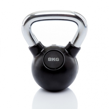 Muscle Power Kettlebell Rubber - Chrome 8 KG MP1301