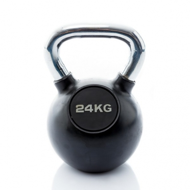 Muscle Power Kettlebell Rubber - Chrome 24 KG MP1301