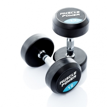 Muscle Power Ronde Dumbbellset 12 KG MP914