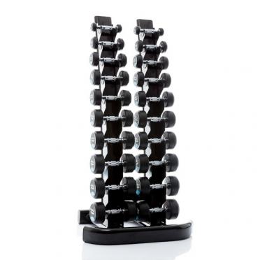 Muscle Power ronde Dumbbellset 2 - 20 KG met opbergrek
