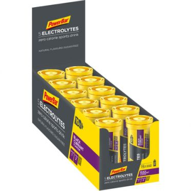 Powerbar Electrolyte tabs 12 x 10 tabletten zwarte bes