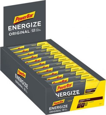 Powerbar Energize bar energiereep cookies & cream 25 x 55 gram