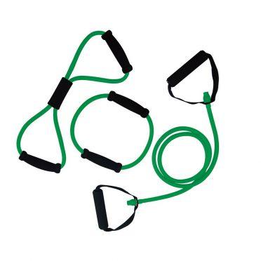 Tunturi Tubing set met handgrepen medium groen
