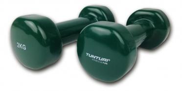 Tunturi Dumbells Vinyl Overtrokken Gietijzer Groen 2 kg 14TUSFU110