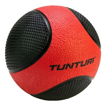 Tunturi Medicine ball 3 kg rood/zwart