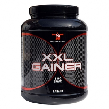 M Double You XXL Gainer 1300 gram banaan