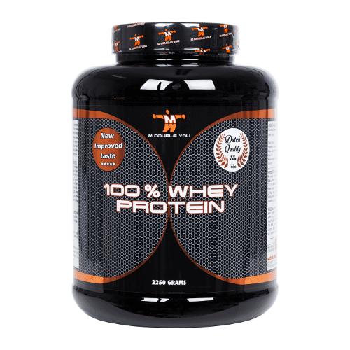 M Double You 100% whey protein 2250 gram cookies & cream  2002-c&c