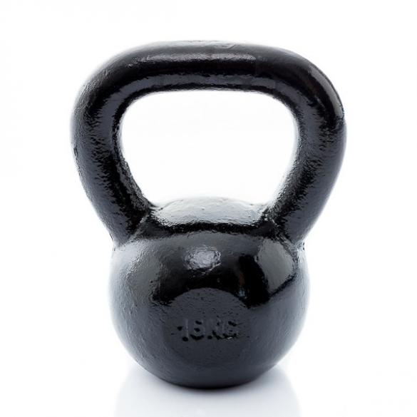 Muscle Power Gietijzeren Kettlebell 16 KG MP1300  MP1300-16