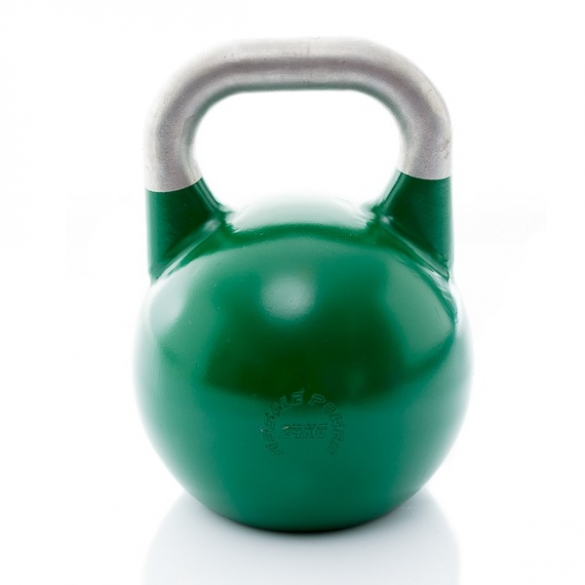 Muscle Power Competition Kettlebell Groen 24 KG MP1302  MP1302GROEN