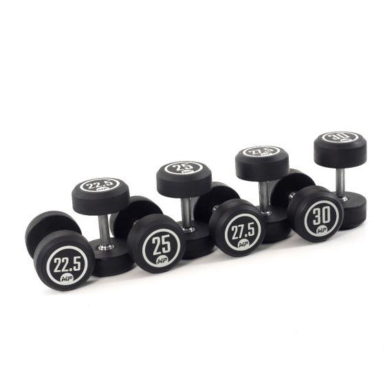 Muscle Power dumbbellset rond rubber 22,5 - 30 kg  FFMP51D2A/22.5-30KG