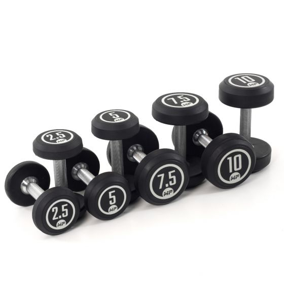 Muscle Power dumbbellset rond rubber 2,5 - 10 kg  FFMP51D2A/2.5-10KG