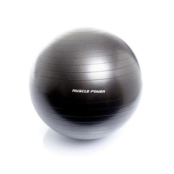 Muscle Power Gym Ball 65 CM Zwart MP1462  MP146265CM