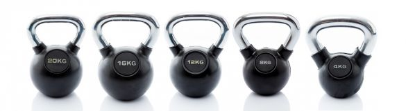 Muscle Power Kettlebell-set Rubber/Chrome 4 - 20 kg  MP1301-set