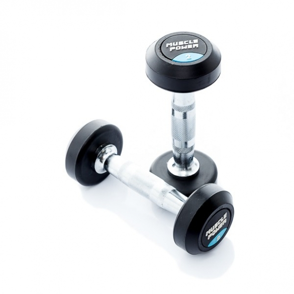 Muscle Power Ronde Dumbbellset 2 KG MP914  MP914-2KGSET