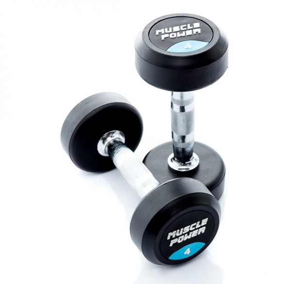 Muscle Power Ronde Dumbbellset 4 KG MP914  MP914-4KGSET