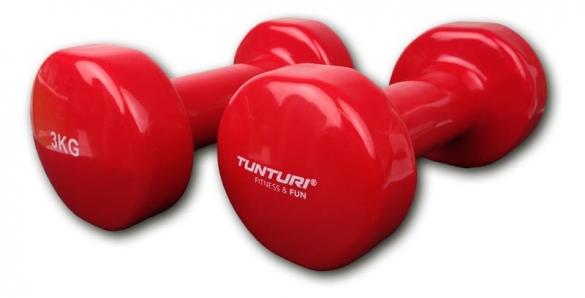 Tunturi Dumbells Vinyl Overtrokken Gietijzer Rood 3 kg 14TUSFU111  14TUSFU111