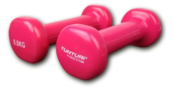 Tunturi Dumbells Vinyl Overtrokken Gietijzer Roze 0,5 kg 14TUSFU108  14TUSFU108